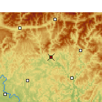 Nearby Forecast Locations - Bazhong - Carte