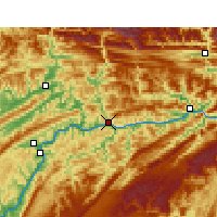 Nearby Forecast Locations - Yunyang - Carte