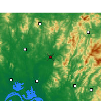 Nearby Forecast Locations - Macheng - Carte