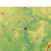 Nearby Forecast Locations - Nanchong - Carte