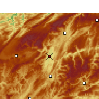 Nearby Forecast Locations - Enshi - Carte