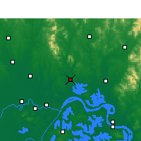 Nearby Forecast Locations - Huangpi - Carte