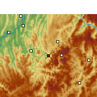 Nearby Forecast Locations - Wansheng - Carte