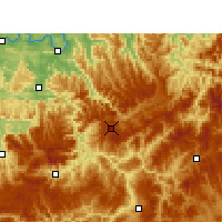 Nearby Forecast Locations - Xishui/GZH - Carte