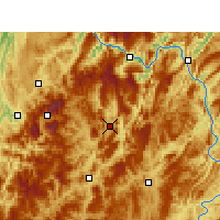 Nearby Forecast Locations - Daozhen - Carte