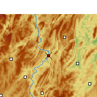 Nearby Forecast Locations - Yanhe - Carte