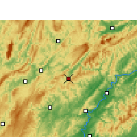 Nearby Forecast Locations - Guzhang - Carte