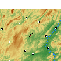 Nearby Forecast Locations - Jishou - Carte