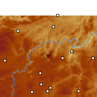 Nearby Forecast Locations - Xifeng/GZH - Carte