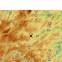 Nearby Forecast Locations - Xian de Cengong - Carte
