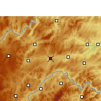Nearby Forecast Locations - Xian de Shibing - Carte