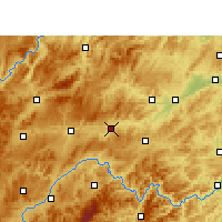 Nearby Forecast Locations - Zhenyuan/GZH - Carte