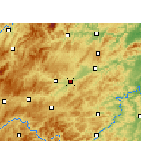 Nearby Forecast Locations - Yuping - Carte
