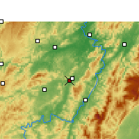 Nearby Forecast Locations - Zhongfang - Carte