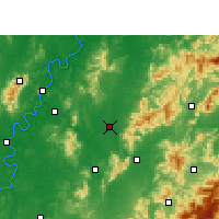 Nearby Forecast Locations - Vous Xian - Carte