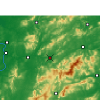 Nearby Forecast Locations - Pingxiang - Carte