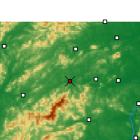 Nearby Forecast Locations - Yichun - Carte