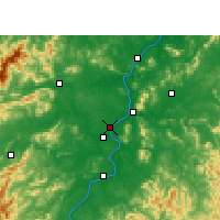Nearby Forecast Locations - Ji'an - Carte