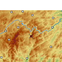 Nearby Forecast Locations - Jianhe - Carte