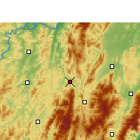 Nearby Forecast Locations - Suining/HUN - Carte