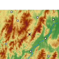 Nearby Forecast Locations - Xian de Ziyuan - Carte