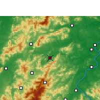 Nearby Forecast Locations - Yongxin - Carte