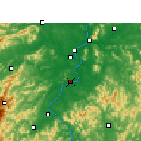 Nearby Forecast Locations - Taihe - Carte