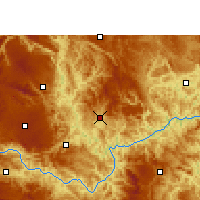 Nearby Forecast Locations - Wangmo - Carte