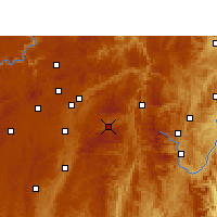 Nearby Forecast Locations - Xian de Longli - Carte