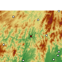 Nearby Forecast Locations - Sanjiang - Carte