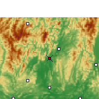 Nearby Forecast Locations - Rongshui - Carte