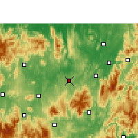Nearby Forecast Locations - Guiyang/HUN - Carte