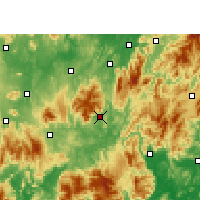 Nearby Forecast Locations - Yizhang - Carte