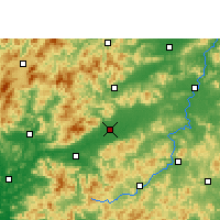 Nearby Forecast Locations - Nanxiong - Carte