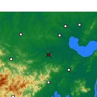 Nearby Forecast Locations - Xian de Shucheng - Carte