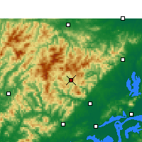 Nearby Forecast Locations - Yuexi/ANH - Carte