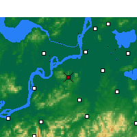 Nearby Forecast Locations - Fanchang - Carte