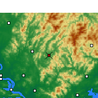 Nearby Forecast Locations - Yingshan/HUB - Carte