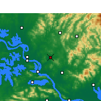 Nearby Forecast Locations - Xishui - Carte