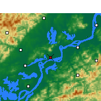 Nearby Forecast Locations - Anqing - Carte