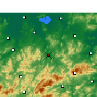 Nearby Forecast Locations - Ningguo - Carte