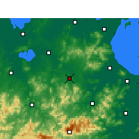 Nearby Forecast Locations - Guangde - Carte