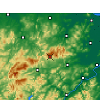 Nearby Forecast Locations - Réserve naturelle de Tianmushan - Carte