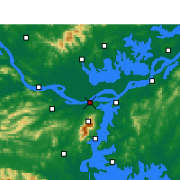 Nearby Forecast Locations - Jiujiang - Carte