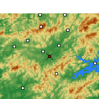 Nearby Forecast Locations - Tunxi - Carte