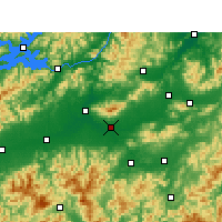 Nearby Forecast Locations - Jinhua - Carte