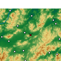 Nearby Forecast Locations - Dongyang - Carte