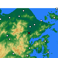 Nearby Forecast Locations - Fenghua - Carte
