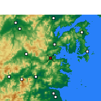 Nearby Forecast Locations - Sanmen - Carte