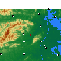 Nearby Forecast Locations - Anyi - Carte